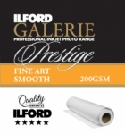 Ilford Galerie Prestige Fine Art Smooth Inkjet Paper - 200gsm 17 in. x 49 ft. Roll