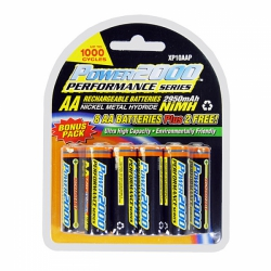 Power 2000 AA 2950 mAh NiMH Rechargeable AA Batteries - 10 Pack