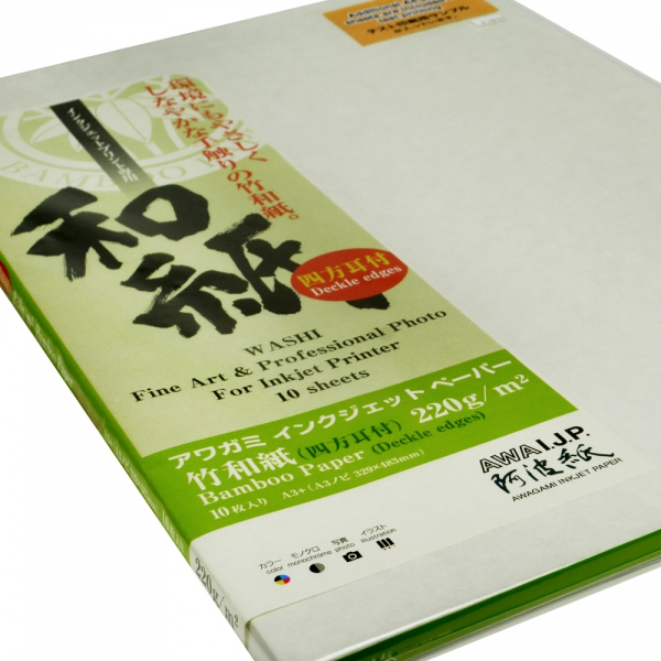 Awagami Bamboo 220gsm Fine Art Deckle Edge Inkjet Paper A3+/10 Sheets