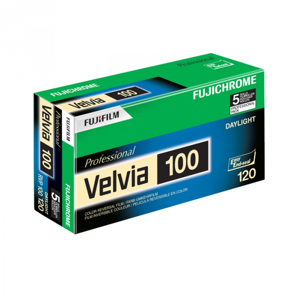 Fujichrome Velvia 100 ISO 120 Size RVP - Single Roll Unboxed