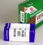 Fuji Fujichrome Velvia 100 ISO 120 Size RVP (Single Roll Unboxed)