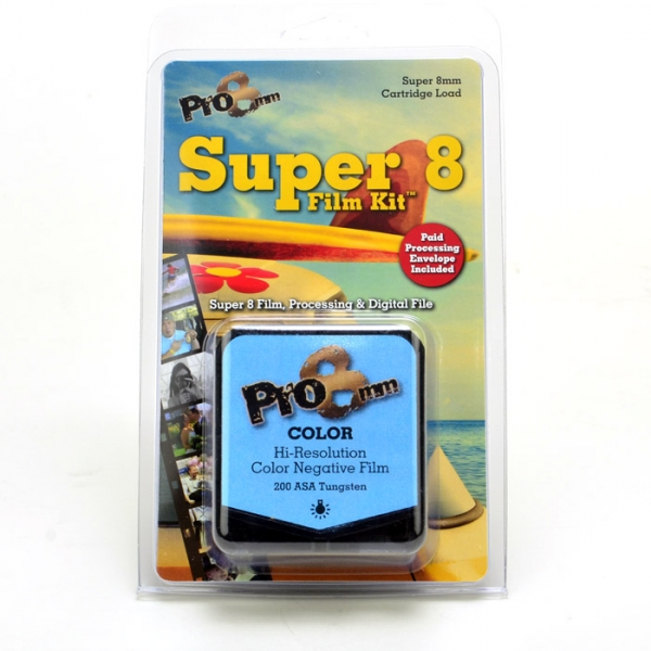 Pro 8mm Super 8 Color 200T is a high resolution color negative film best used in bright interiors or in average daylight.