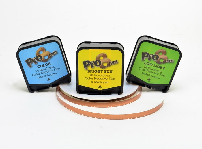 There are three Pro 8mm Super 8 Film kits to choose from.