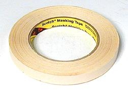 3M Scotch #232 Masking Tape 1/2 in. x 60 yds.