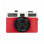 Holga 135BC 35mm Film Camera - Black and Red