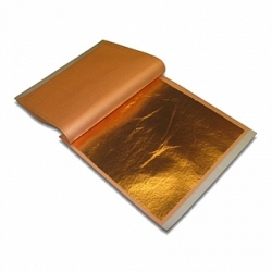 Copper Leaf Booklet 25 sheets - 5.5 x 5.5 inch squares