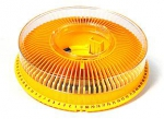 Arista Carousel Tray for Kodak Ektagraphic Projector with Cover holds 80 slides - Yellow