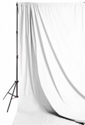 Savage Accent Solid Muslin Background 10 foot by 24 foot White