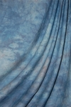 Savage Accent Crushed Muslin Background 10 foot by 24 foot Apex Blue