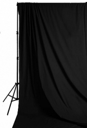 Savage Accent Solid Muslin Background 10 foot by 12 foot Black