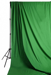 Savage Accent Solid Muslin Background 10 foot by 12 foot Chroma Green