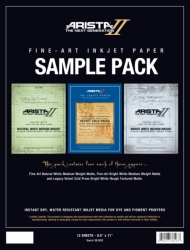Arista-II Fine Art Inkjet Paper Sample Pack - 8.5x11/12 Sheets