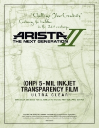 Arista-II Inkjet OHP Ultra Clear 5-mil Transparency Film - 13x19/50 Sheets