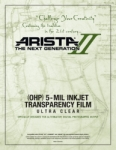 Arista-II Inkjet OHP Ultra Clear 5-mil Transparency Film - 8.5x11/100 Sheets
