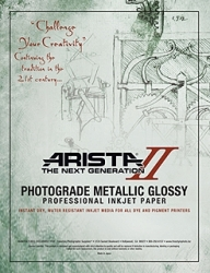Arista-II Metallic Glossy Inkjet Paper - 252gsm 44 in. x 50 ft. Roll