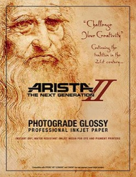 Arista-II RC Glossy Inkjet Paper - 252gsm 17x22/50 Sheets