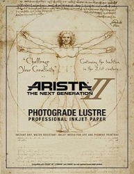 Arista-II RC Lustre Inkjet Paper - 252gsm 13 in. x 32 ft. Roll