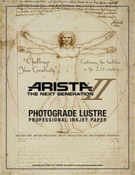 Arista-II RC Lustre Inkjet Paper - 252gsm 8.5x11/100 Sheets