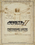 Arista-II RC Lustre Inkjet Paper - 252gsm 8.5x11/250 Sheets