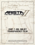 Arista-II Inkjet OHP 7-mil Transparency Film - 11x17/20 Sheets