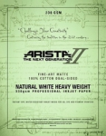 Arista-II Fine Art Natural Cotton Matte Inkjet Paper - 330gsm 8.5x11/20 Sheets