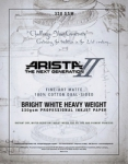 Arista-II Fine Art Bright White Cotton Matte Inkjet Paper - 330gsm 11x17/20 Sheets