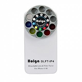 Holga iPhone 4 and 4S Detachable Lens and Filter Case - White