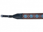 U.N Blue Tapestry Camera Strap - 1.5 in.