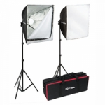 Smith-Victor Bellabox 1000 Kit - 2 Lights/Stands/Soft boxes with Bag