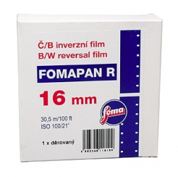 Foma Fomapan R100 BW Reversal Film Super 16mm x 100 ft. - Single Perforated