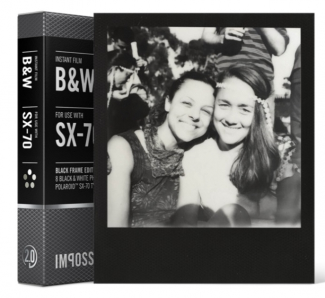 Impossible instant bw film 2 0 with black frames for polaroid sx 70 type cameras