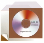 Lineco Corrosion Intercept CD/DVD Protector w/Angle Flap  & Adhesive Backing - 10 pack