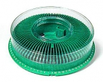 Arista Carousel Tray for Kodak Ektagraphic Projector with Cover holds 80 slides - Green