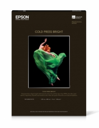 Epson Cold Press Bright Inkjet Paper - 340gsm 17x22/25 Sheets