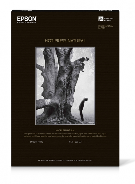 Epson Hot Press Natural Inkjet Paper - 330gsm 24 in  x 50 ft  Roll