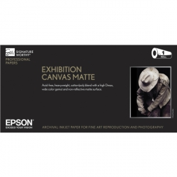 Epson Exhibition Canvas Natural Matte Inkjet Paper - 395gsm 13 in. x 20 ft. Roll