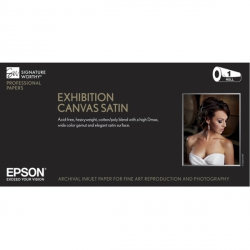 Epson Exhibition Canvas Satin Natural Inkjet Paper - 400gsm 17 in. x 40 ft. Roll