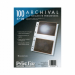 Printfile Archival 57-2B Negative Preservers - Holds 2- 5x7 Negatives - 100 Pack