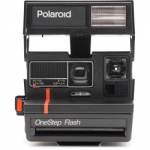 Polaroid 600 Red Stripe Instant Camera