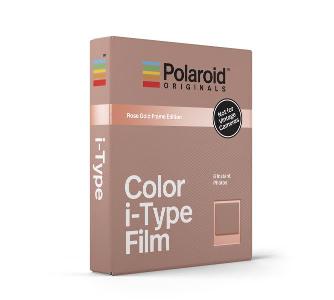 Polaroid Color i-Type Film Rose Gold Frame