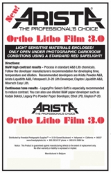 Arista Ortho Litho Film 3.0 - 10x12/100 Sheets