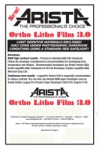 Arista Ortho Litho Film 3.0 - 3.9x4.9/100 Sheets - For 4x5 Film Holders