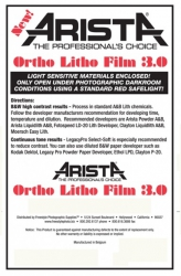 Arista Ortho Litho Film 3.0 - 4x5/50 Sheets