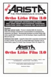 Arista Ortho Litho Film 3.0 - 4.9x6.9/25 Sheets - For 5x7 Film Holders