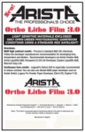 Arista Ortho Litho Film 3.0 - 16x20/25 Sheets