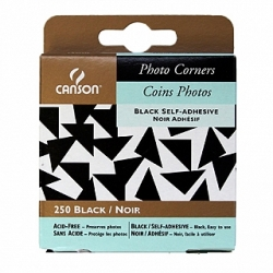 "Canson Self Adhesive Photo Corners 1/2"" - Black"