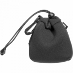 Zing Small Drawstring Pouch Black with Black trim