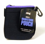 Zing Small Drawstring Pouch Black with Blue Trim