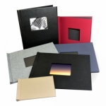 Pinchbook Photo Book - 12x12 Black Cloth with Window