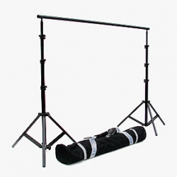 JTL B-912 9.6 ft. Background Stand with 2 Section Bars, Stands and Carry Bag